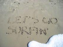 idzie pozwalać s surfin Fotografia Royalty Free