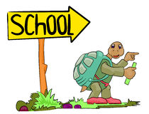 idzie szkoła żółw Fotografia Stock