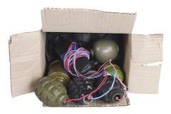 IED - Αυτοσχεδιασμένος Mailbomb εκρηκτικός μηχανισμός στην ταχυδρομική θυρίδα στοκ φωτογραφία με δικαίωμα ελεύθερης χρήσης