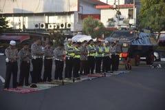 Ied-Gebet auf dem Gebiet Simpanglima Semarang Stockfotografie