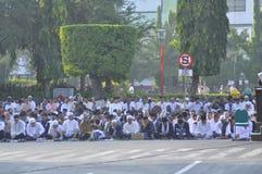 Ied-Gebet auf dem Gebiet Simpanglima Semarang stockfotos