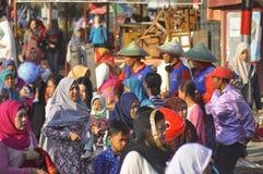 Ied-Gebet auf dem Gebiet Simpanglima Semarang lizenzfreies stockbild
