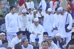 Ied prayer in the field Simpanglima Semarang Stock Photos
