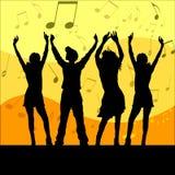 Iedereen danst! Stock Foto's