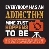 Iedereen heeft verslavingsmijn gebeurt fotografie te zijn stock illustratie