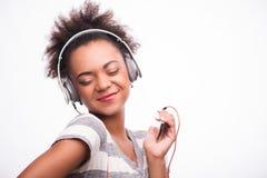 Iedereen houdt van muziek Stock Foto