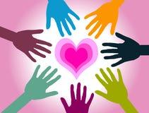 Iedereen wil Liefde vector illustratie