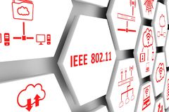 IEEE 802 11 concept. Cell background 3d illustration Stock Photo