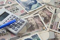 Iene japonês Imagem de Stock