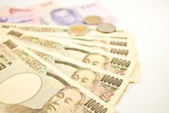 Iene japonês e baht tailandês Imagem de Stock Royalty Free
