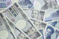 Iene japonês, a moeda de japão Foto de Stock Royalty Free