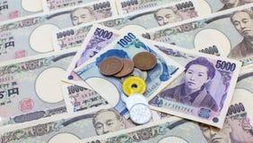 Ienes japoneses da moeda Imagem de Stock