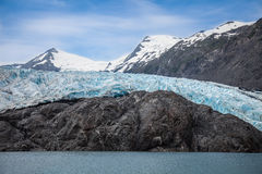 Ier- Kenai Peninsula- Chugach National Forest- AKce. Portage Glacier- Kenai Peninsula- Chugach National Forest- AK This spectacular glacier must be accessed by a Royalty Free Stock Photos