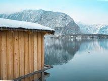 Ier of wooden planks in the hallstatt austria europe travel.  Royalty Free Stock Images