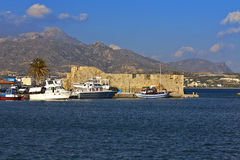 Ierapetra city at Crete island in Greece Stock Photos