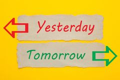 Ieri concetto di domani immagini stock libere da diritti