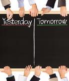 Ieri, domani Immagini Stock