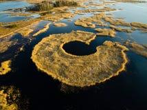 Ieris del † de KaÅ del lago, visión desde arriba latvia Imagen de archivo