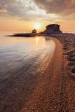 Ierissos-Kakoudia海滩,希腊 库存图片