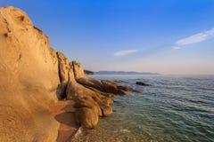 Ierissos-Kakoudia海滩,希腊 库存照片