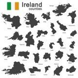 Ierland en provincies Stock Afbeeldingen