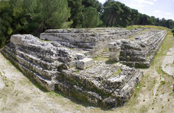 Ieron's ara. Is an ancient monumental greek buildings in the Syracuse archaeological park Stock Photography