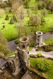 Iers kasteel van Blarney, beroemd voor de steen van welsprekendheid. Ire stock afbeeldingen