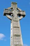 Iers Keltisch kruis met Keltische ontwerpen Royalty-vrije Stock Fotografie
