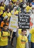 Iers Protest royalty-vrije stock afbeeldingen
