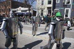Iers Tin Man, St Patrick Dagparade, 2014, Zuid-Boston, Massachusetts, de V.S. royalty-vrije stock afbeeldingen