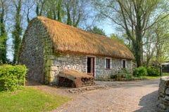 Iers traditioneel plattelandshuisjehuis van Bunratty. Royalty-vrije Stock Foto's