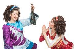 Ierse dansers met zachte schoenen voor het dansen royalty-vrije stock foto