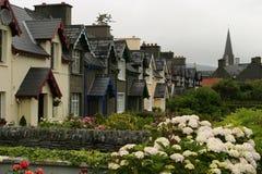 Ierse Huizen in een Rij Stock Afbeelding