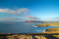 Ierse kust in Co. Kerry Stock Afbeelding