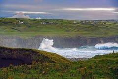 Ierse kustlijn royalty-vrije stock afbeelding