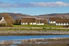 Ierse plattelandshuisjehuizen in Burren Royalty-vrije Stock Afbeeldingen
