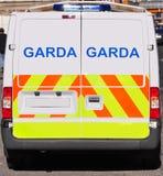 Ierse politiebestelwagen Stock Foto's