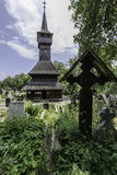 Ieud, romania, europe, wooden church royalty free stock photo