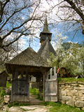 Ieud wooden church in Maramures Stock Images