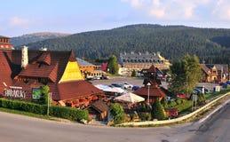 iew деревни Donovaly, Словакии стоковое фото