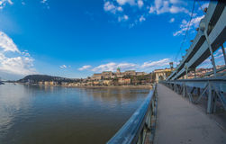 View from Chain Bridge in Budapest Royalty Free Stock Photo
