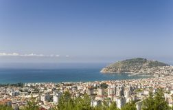 Harbour on Alanya the Turkish riviera Royalty Free Stock Image