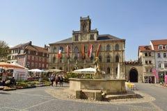 Iew Markt kwadrat w Weimar Fotografia Royalty Free