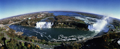 Iew of Rainbow Bridge, the American Falls and Hors Royalty Free Stock Photos