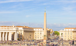 Iew of the St. Peter's Square in the Vatican City, Rome, Italy Royalty Free Stock Photography