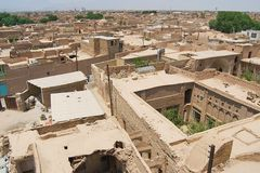 Iew to the roofs of the old buildings in the historical part of the Yazd city, Iran. Stock Image