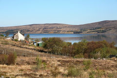 Small village near Kyle of Durness Stock Images
