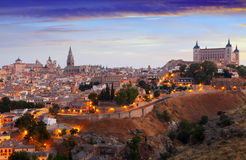 Iew of Toledo from hill in summer morning Stock Photo