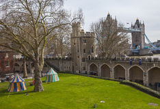 Iew of Tower Bridge from the Tower of London Royalty Free Stock Photo