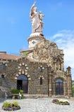 Iew van het standbeeld van Heilige Joseph DE Bon Espoir Espaly Stock Afbeeldingen